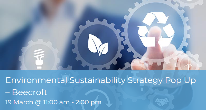 Environmental Sustainability Strategy Popup